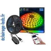 Bandeau LED RGB 2m Rétroéclairage TV + Micro Intégré Bluetooth. ref bl-01