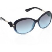 Vintage Over-sized Sunglasses(Blue)