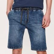 House - Jeansowe szorty z regulacją w pasie - Granatowy