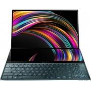 "ASUS ZenBook Pro Duo UX581LV-H2018T-BE Notebook Blauw 39,6 cm (15.6"") 3840 x 2160 Pixels Touchscreen Intel® 10de generatie Core™ i7 16 GB LPDDR4-SDRAM 512 GB SSD NVIDIA® GeForce RTX™ 2060 Wi-Fi 6 (802.11ax) Windows 10 Home"