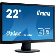 "iiyama ProLite E2283HS-B3 22"" Monitor VGA, DisplayPort, HDMI, Audio"