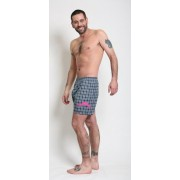Tumbler & Tipsy Box and Cox Underwear Moustache Plaid Boxers