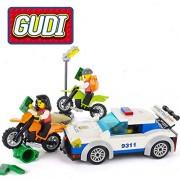 Generic GUDI 158pcs Bricks Building Blocks Sets Model Bricks Educational Toys for Children City High Speed Police Chase Blocks