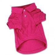 "Zack & Zoey Cotton Polo Shirt for Dogs, 16"" Medium, Raspberry Sorbet"