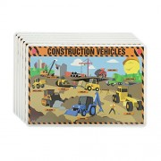 M. Ruskin Company Construction Vehicles Placemat Set of 6