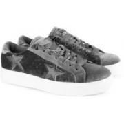 Steve Madden STARSTRKGREY VELVET Casuals For Women(Grey)