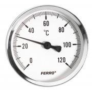 Termometru 63 mm 1/2 120°C, montaj axial