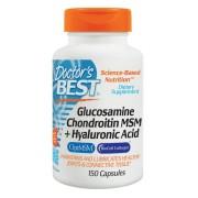 Doctor's Best, Glucosamină Condroitină MSM + Acid Hialuronic, 150 Capsule + TRANSPORT GRATUIT