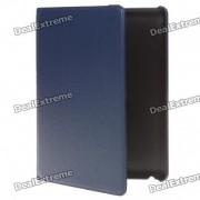 funda protectora de cuero PU giratoria para ipad 2 - azul