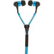 STREETZ HL-217 in-ear Oordoppen met microfoon, 3,5 mm AUX connector, microfoon en antwoordknop, 1,2 m kabel, blauw
