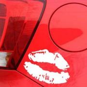 Csókos száj, autómatrica