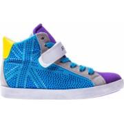Pantofi sport copii Star Kids London albastru cu mov