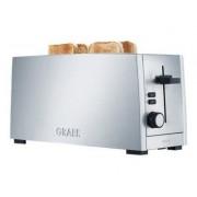 Graef TO 100 - Grille-pain -électrique - 4 tranche - 2 Emplacements - argenté(e)