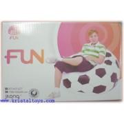 Надуваем фотьойл Футболна топка FUN