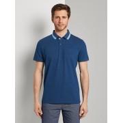 TOM TAILOR Polo hemd met borstzak, after dark blue white melange, XXXL