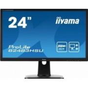 Monitor LED 24 Iiyama ProLite B2483HSU-B1DP Full HD 2ms Negru