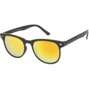 Arzonai Tints Wayfarer Black-Orange UV Protection Sunglasses For Men & Women MA-7136-S4