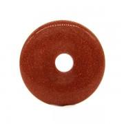 Donut (fánk) medál - barna napkő /goldstone