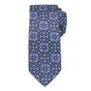 Men's silk tie with geometric pattern 9619