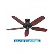 Hunter Ventilador De Techo Hunter 50567 Builder Elite 132 Cereza Brasileña O Nogal Amarillo / Bronce
