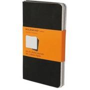 Moleskine Ruled Cahier - Black Cover (3 Set), Paperback