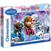 Clementoni: Jégvarázs Super Color 104 darabos csillámlós puzzle - lila