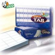 > Etichette a modulo continuo Tico TAB 2 - 100x36,2 mm - corsia doppia - permanente - bianco - Tico - scatola da 8000 etichette (unit