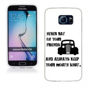 Husa Samsung Galaxy S6 G920 Silicon Gel Tpu Model Never Rat On Your Friends B&W