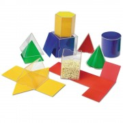 Forme geometrice pliante Learning Resources, 16 piese, 7 - 11 ani