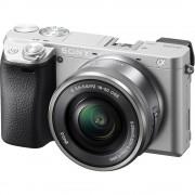 Sony A6300 Aparat Foto Mirrorless 24MP APSC 4K Kit cu Obiectiv 16-50mm F/3.5-5.6 OSS Argintiu