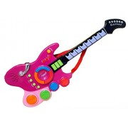 PoshTots Kids high Quality Electronic Musical Guitar Toys Childs Learning Guitar Fun Sounds Infrared Play Kids Beginner Guitar Lights and Sounds Learn''n''Play with Sensor-Gift Toy