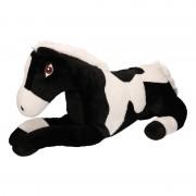 Geen Pluche zwart/witte paarden knuffel 60 cm speelgoed