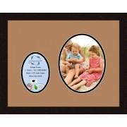 Arte a Marcos Doble-multimat 441-771/89-FRBW26061 Alfombrilla de Fotos con Collage Enmarcado Alfombra Doble con 1-5 x 7 y 1-8 x 10 Aberturas y café exprés Marco
