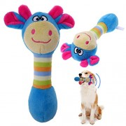 Rrimin Funny Animal Shape Pet Puppy Dog Toys Plush Sound Squeaker Chewing Toys