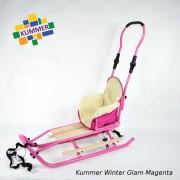 Saniuta pentru copii Kummer Winter Glam Extra Magenta