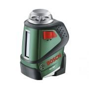 Nivela cu laser Bosch PLL360, linii in cruce, incl. suport de fixare din plastic