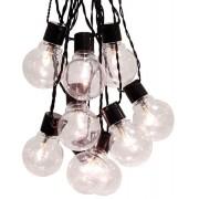 Star Trading LED partybelysning 16 ljus klar svart kabel 4,5m