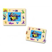 Mickey si Pilotii de curse - Puzzle cu tinte, 16 piese