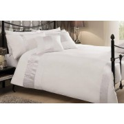 T&A TEXTILES & HOSIERY LTD t/a Victoria Home Living From £12.99 instead of £36 for a Caprice duvet cover set in white, oyster, silver, cream or black from Victoria Home Living! - save 64%