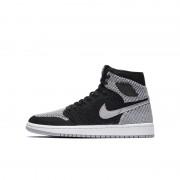 Air Jordan 1 Retro High Flyknit Schuh für ältere Kinder - Schwarz