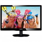 """Philips 200v4qsbr Monitor Pc Mva 19,5"""" Full Hd 250 Cd/m² Colore Nero"""