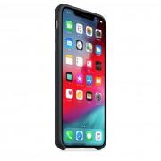 Apple Silicone Case - оригинален силиконов кейс за iPhone XS Max (черен)
