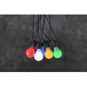 Party LED verlichting 10 multicolor E10 bollampen, 4841-507