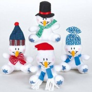 Baker Ross Snowman Mini Bean Pals (Pack of 4)