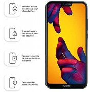 "Huawei P20 Lite 64GB Midnight Black, Dual Sim, 5.84"" inch, 4GB Ram, (GSM Only, No CDMA) Unlocked International Model, No Warranty"