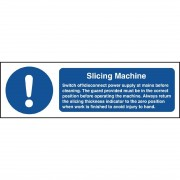 Nisbets Slicing Machine Safety Sign