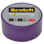 Scotch Expressions Magic Tape 3/4 x 300 Inches Purple 6-Rolls/Pack
