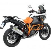 Arrow Exhaust Motorrad-Endschalldämpfer Arrow Race-Tech Motorrad Auspuff für KTM 1050/1190 Advent. Alu/Carbon silber