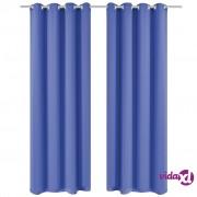 vidaXL Zavjesa za Zamračivanje s Metalnim Prstenovima 2 kom 135x175 cm Plava