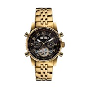 【85%OFF】230-H Air Professional gold schwarz ラウンド ウォッチ ゴールド/ブラック ファッション > 腕時計~~メンズ 腕時計
